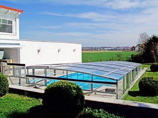L'abri de piscine télescopique Viva