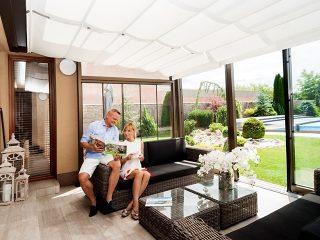Le patio rétractable CORSO Ultima par Alukov