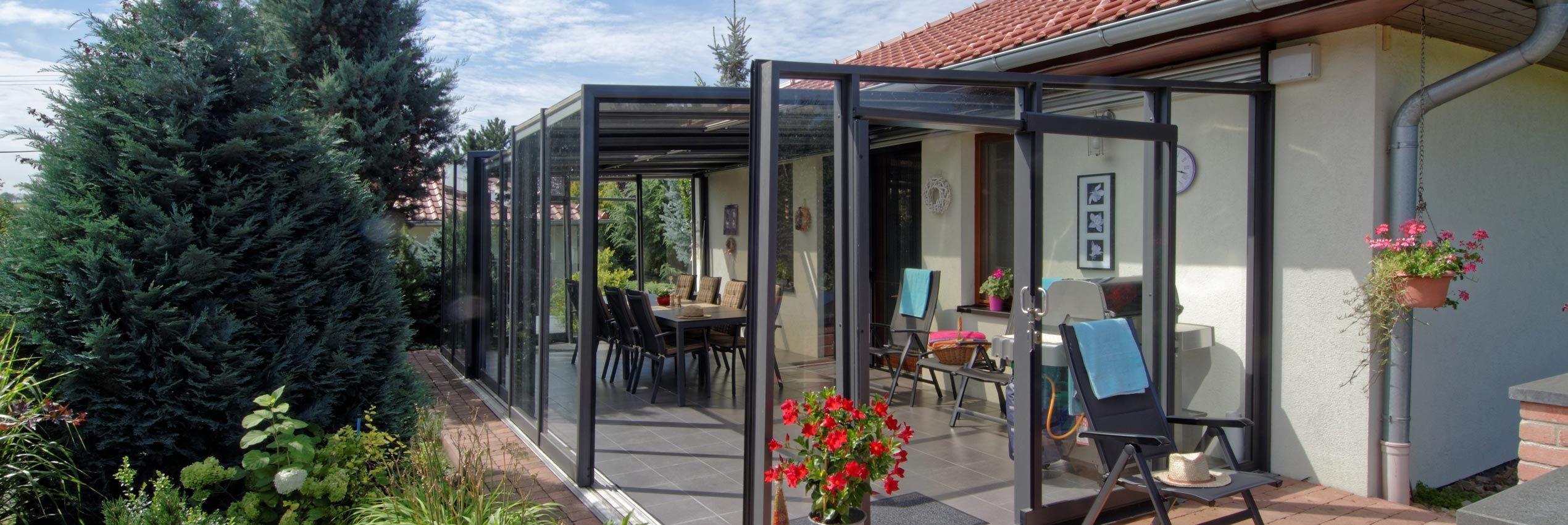 Closed patio enclosure CORSO Glass