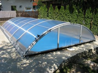 AZURE kupola za bazene s bočnim ulazom na zaključavanje