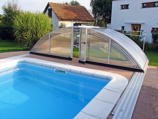 AZURE kupola za bazen s prednjim ulazom u bazen