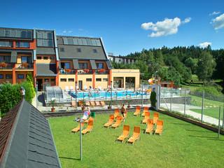 Retractable pool enclosure for public swimming pool 03