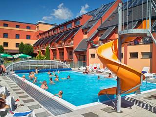 Retractable pool enclosure for public swimming pool 12