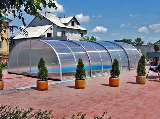 Higher swimming pool enclosure Tropea NEO