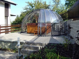 Openable hot tub enclosure SPA DOME ORLANDO by Alukov