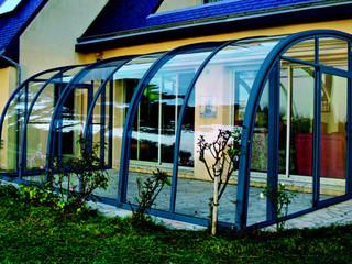 CORSO Entry - cobalt blue finish patio enclosure