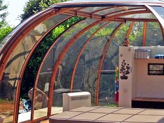 Opened enclosure Spa Sunhouse