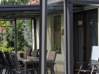 Opened patio enclosure CORSO Glass