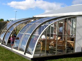 Retractable  innovative conservatory - patio enclosure CORSO Entry