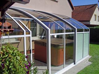 Retractable patio cover CORSO Solid by Alukov 47