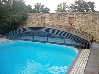 Fully opened pool enclosure IMPERIA NEO light