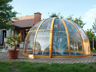 Pool enclosure ORIENT fits great especialy on round pools - silver