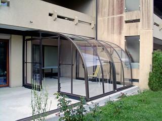 Retractable patio enclosure Corso ENTRY