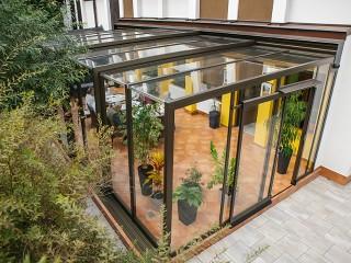 Retractable patio enclosure Corso Glass