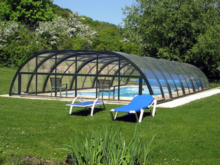 Pool cover TROPEA NEO with anthracite frames