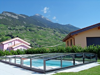 Swimming pool enclosure Corona with beatiful view on the hills