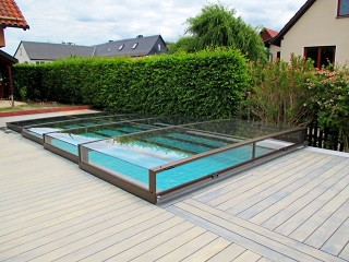 Terra - The lowest pool enclosure on the market