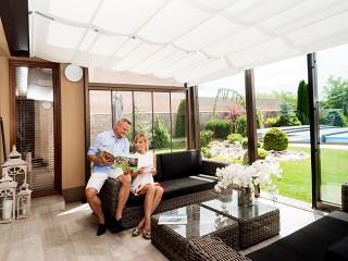 View into patio enclosure Corso Ultima