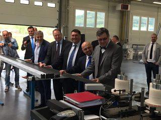 Alukov  Bátonyterenye csarnokátadás 2017 - alumínium profil hajlítása