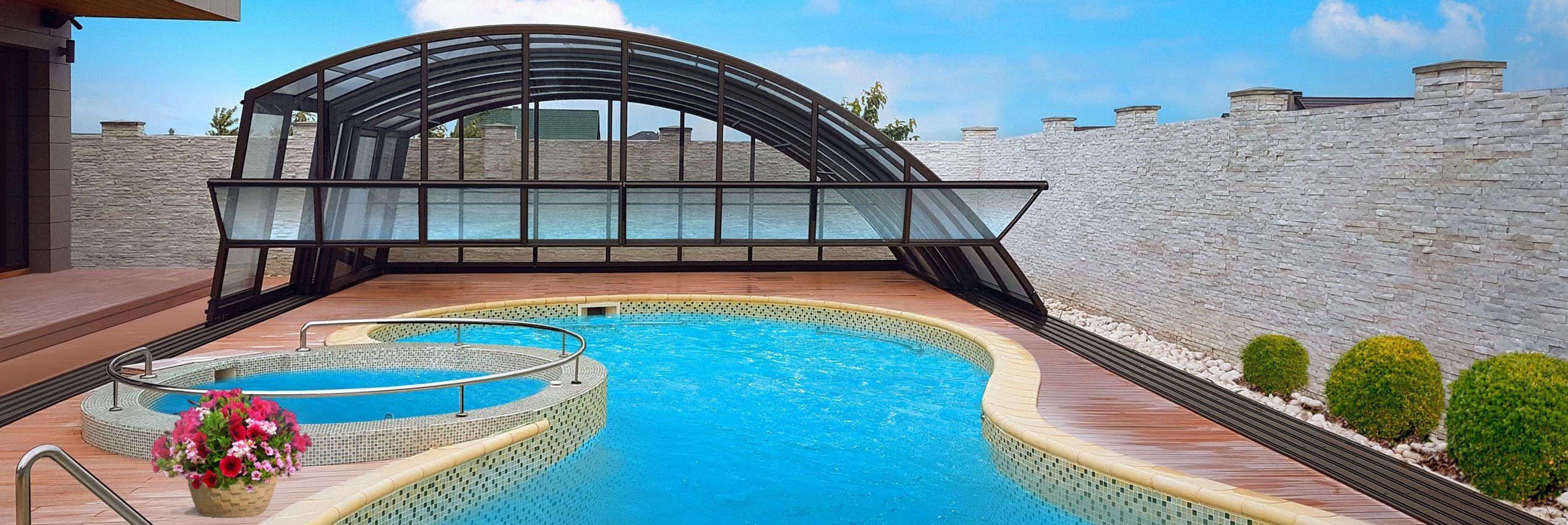 Copertura piscina aperta