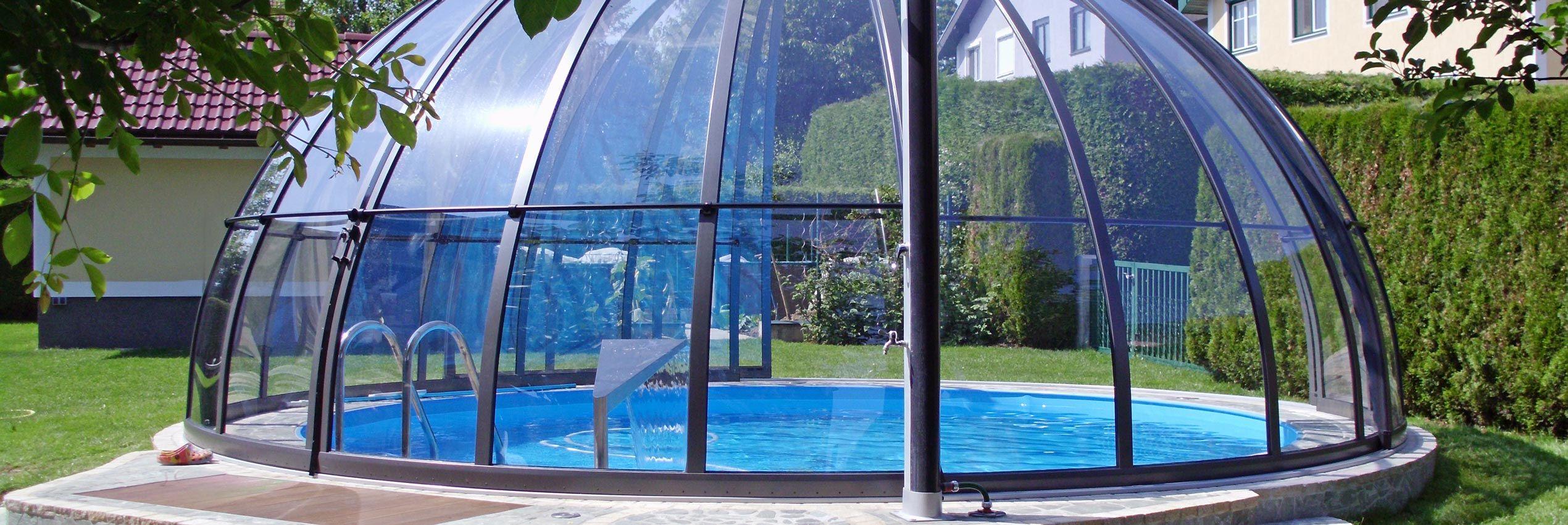 Copertura piscina distesa