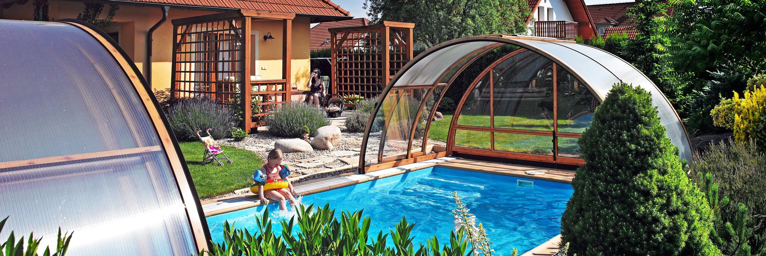 Coperture piscine lista di copertura telescopica bassa media e alta - Coperture mobili per piscine ...