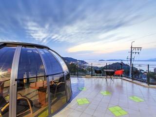 Bellissima vista sulla copertura per idromassaggio Spa Dome Orlando