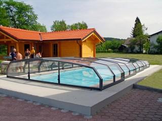 Copertura piscine Oceanic low – in colore antracite