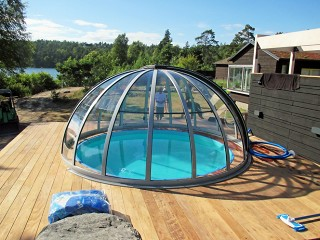 Copertura sferica per piscine Orient – colore argento