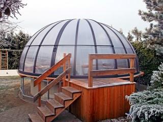 Copertura sferica per piscine Orient - durante linverno