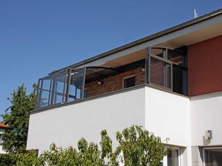Veranda in alluminio bianco
