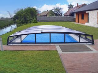 copertura telescopica per piscina modello corona