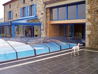 Copertura piscina bassa scorrevole per vache