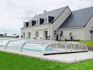 copertura per piscina scorrevole modelloo Oceanci low