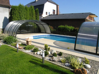 Coperture per piscine Tropea NEO - copertura per piscine telescopiche calpestabili ...