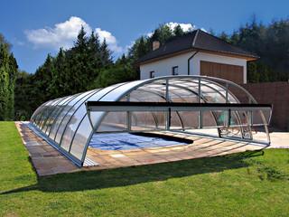 copertura per piscina medio alta modello Tropea