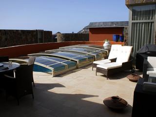 copertura telescopica per la piscina modello viva