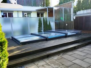 TERRA è la più bassa copertura per piscina da gamma di prodotti Aquanova