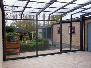 Vista dallinterno della veranda Corso Ultima – veranda in vetro per terrazzo
