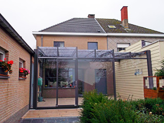 Front view on patio enclosure CORSO Ultima