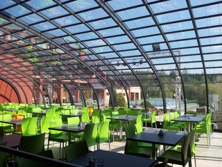 HORECA enclosure Style from Alukov - ideal solution for outdoor patio