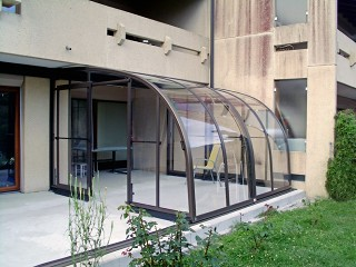 Innovative solution for patio enclosure Corso ENTRY