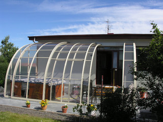 Terrace enclosure VERANDA NEO can be fully opened