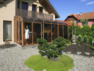 Innovative conservatory - patio enclosure CORSO is easy to handle