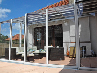 The best house extension - retractable patio enclosure CORSO