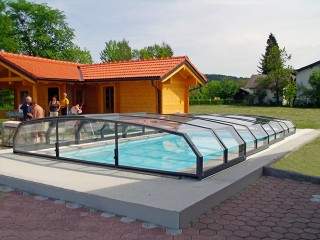 Swimming pool ecnlosure Oceani low - anthracite finish