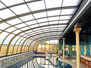 Swimming pool enclosure Style is best solution for public pool