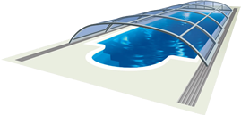 Zwembadoverkapping Elegant NEO™