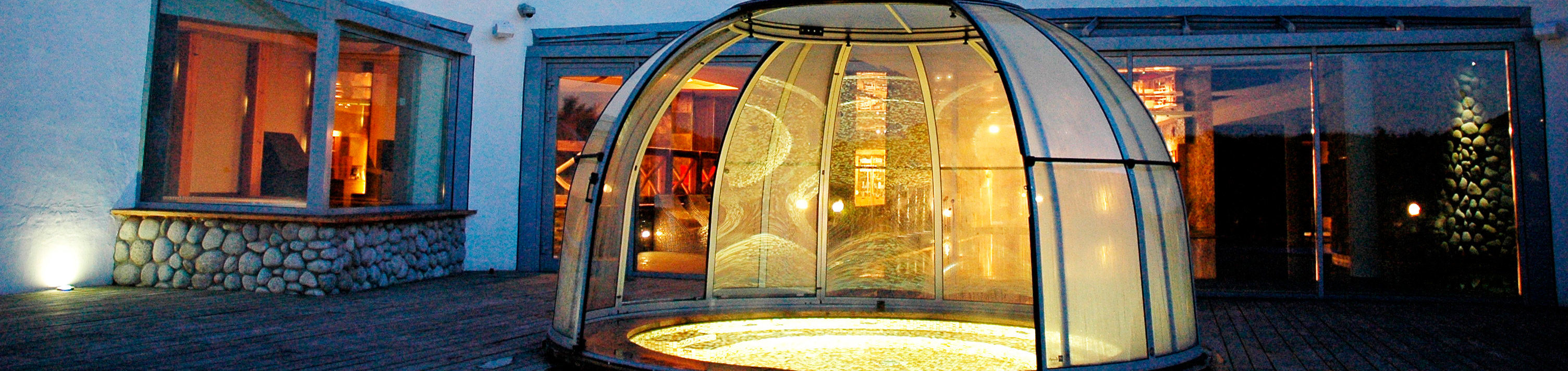 Geopende spa overkapping Spa Dome Orlando