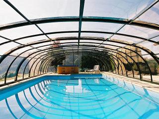 Telescopische Zwembad overkapping TROPEA